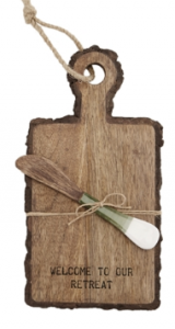 Mud Pie Welcome to Our Retreat Board & Spreader $17.50