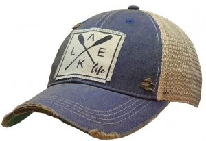 Vintage Life Distressed Trucker Hat: Lake Life $25.00