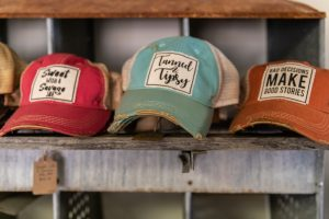 Vintage Life Distressed Trucker Hats: Bad Decisions Make Good Stories, Sweet with a Savage Side, and Tanned & Tipsy 425