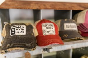 Vintage Life Distressed Trucker Hat: The Man, The Myth, The Legend, Sunshine, Wine & Besties, & Bad Hair Day $25.00 Each