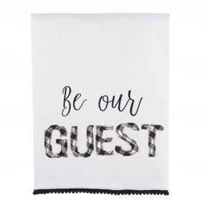 Glory Haus Be Our Guest Tea Towel $22.00