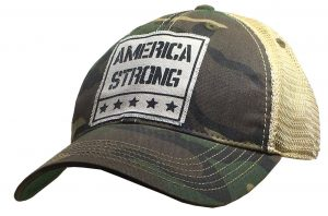 Vintage Life Distressed Trucker Hat: America Strong $25