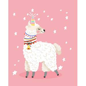 Pink Picasso Kids Llamacorn Paint by Number Kit