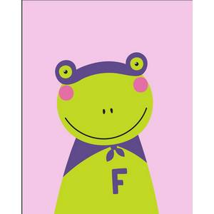 Pink Picasso Super Hero Frog Kids Paint by Number Kit