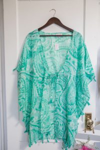 Sabine Cover Up: Mint Paisley $38.00