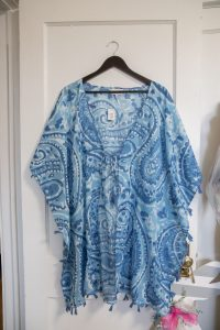 Sabine Cover Up: Blue Paisley $38.00