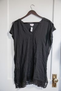 Amber Cover Up: Black $34.00