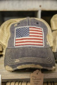 Vintage Life Distressed Trucker Hat: American Flag $25.00